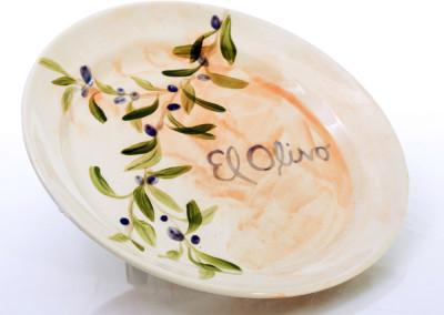 hand painted el olivo plate